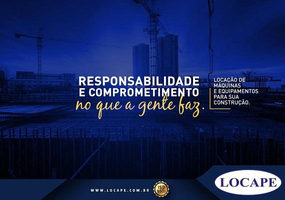 Banner Institucional Locape Locações de Máquinas e Equipamentos
